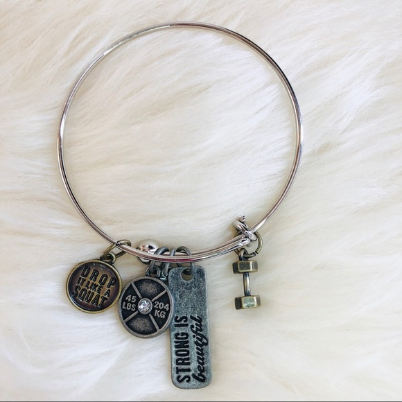 Inspired Closet Jewelry - 3 FOR $25 • Strong is Beautiful Bangle Bracelet